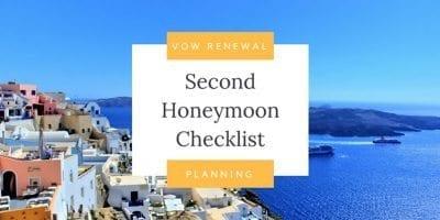 Second Honeymoon Checklist