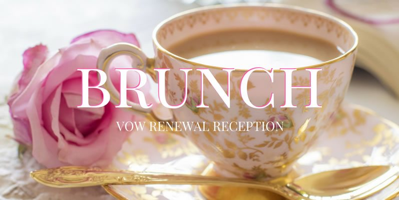 Brunch Vow Renewal Reception