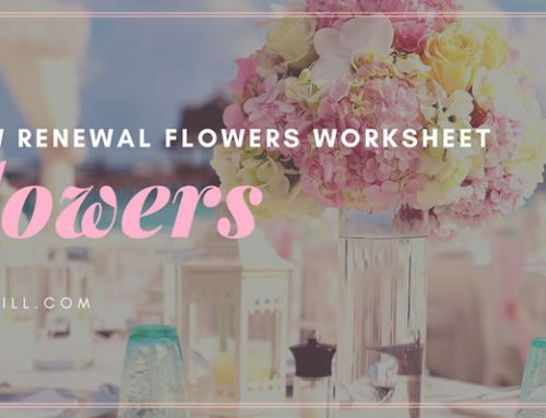 Vow Renewal Flowers Worksheet