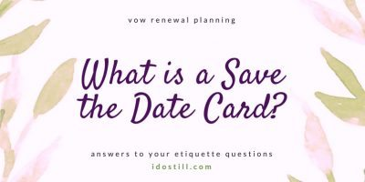What is a Save the Date Card?