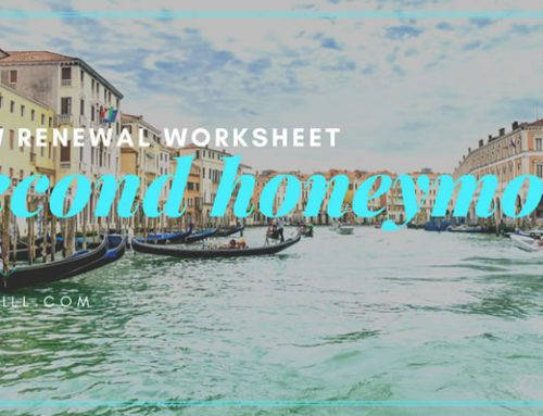 Second Honeymoon Itinerary Worksheet