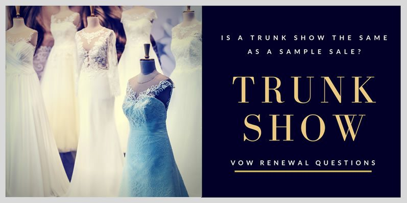Is a Trunk Show the Same as a Sample Sale?
