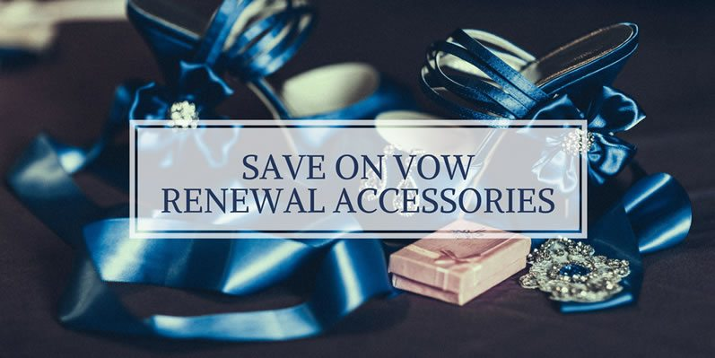 How can I save money on vow renewal accessories?