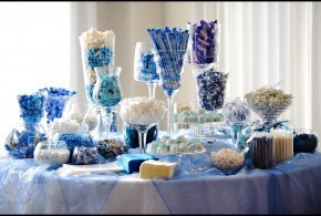 Candy Buffet Table for Vow Renewal Reception