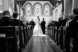Formal Vow Renewal Ceremony in a Church