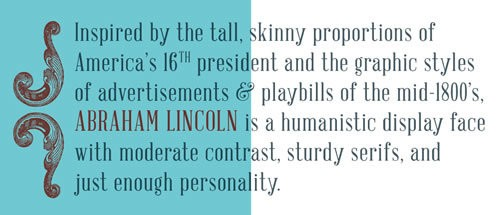 Abraham Lincoln - free font perfect for classic vow renewal invitations