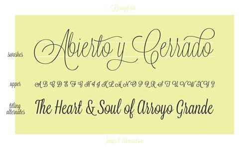 Lavanderia - free font perfect for romantic vow renewal invitations