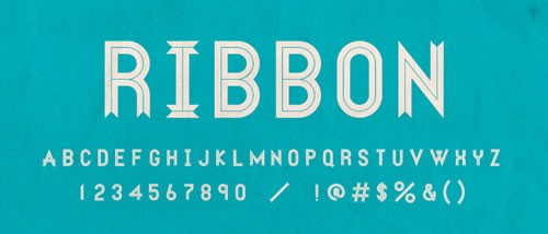 Ribbon Banner - free font perfect for retro, picnic, and outdoor vow renewal invitations