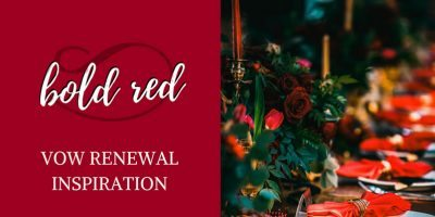 Bold Red Vow Renewal Inspiration