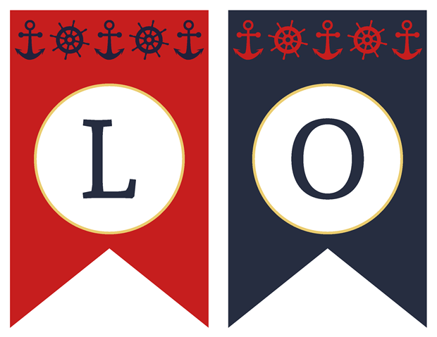 Banners - Classic Nautical Vow Renewal Invitation