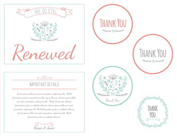 Favor Labels - Important Details Card - Photo Prop