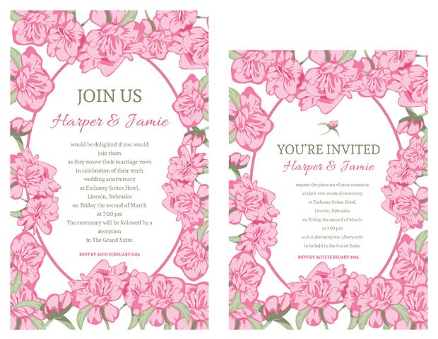 Invitations - Pink Roses