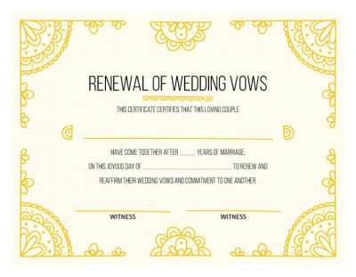 Free Vow Renewal Certificates Download Print Today Idostill Com