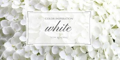 White Color Inspiration for Your Vow Renewal