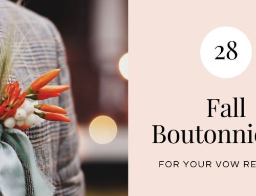 28 Fall Boutonnieres for Your Vow Renewal