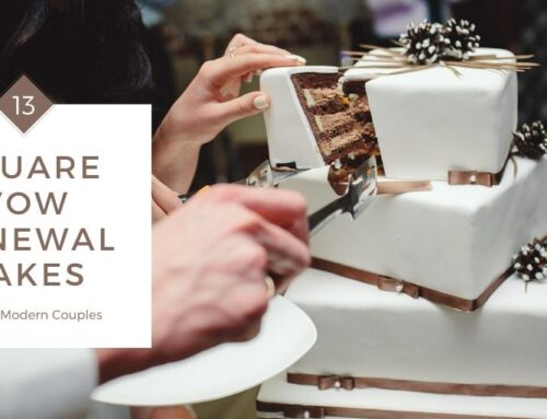 13 Square Vow Renewal Cakes Ideal for Modern Couples